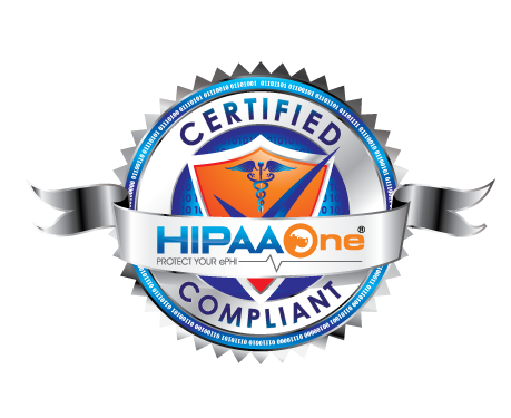 HIPAA One certified compliant seal logo