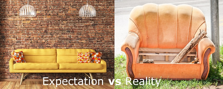 SRAT expectations vs reality comparing the state of two couches